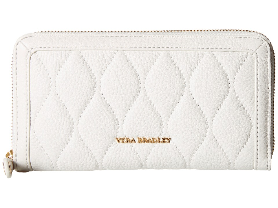 Vera Bradley - Quilted Georgia Wallet (White) Bill-fold Wallet