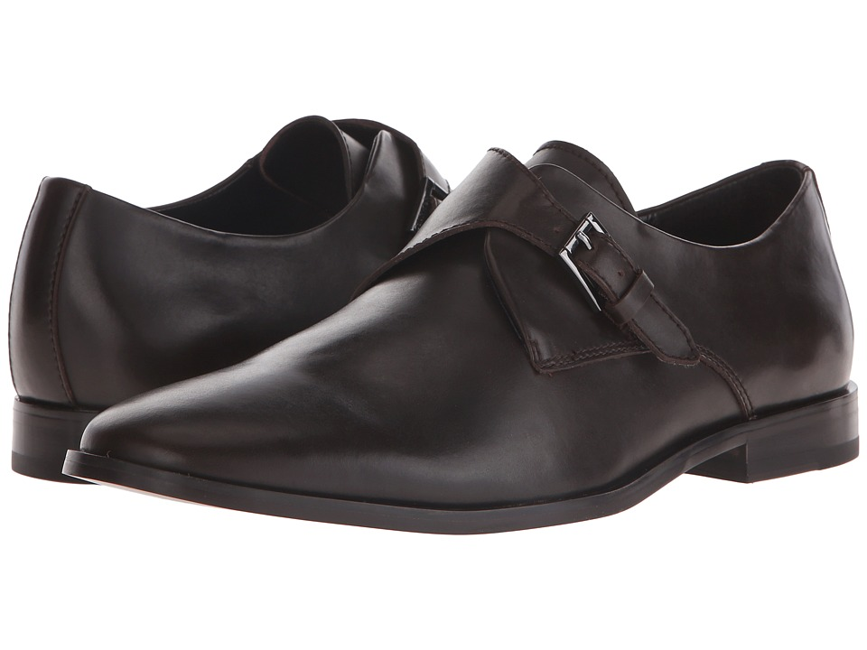 Calvin Klein - Norm (Dark Brown Leather) Men's Slip-on Dress Shoes