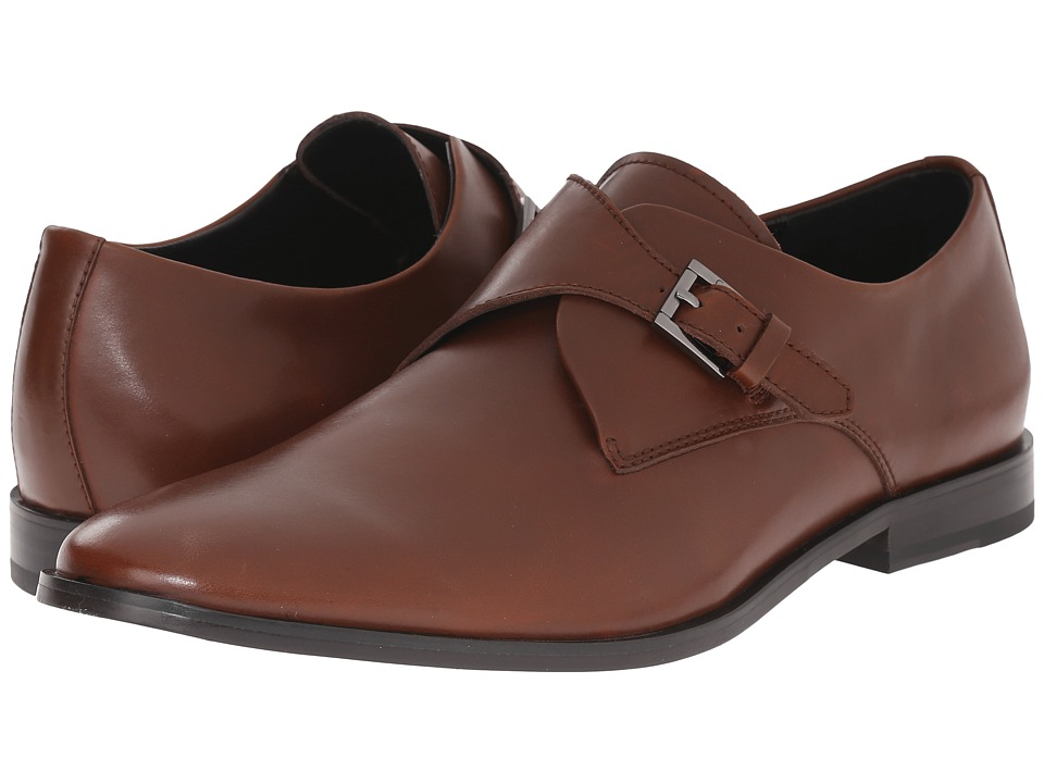 Calvin Klein - Norm (British Tan Leather) Men's Slip-on Dress Shoes