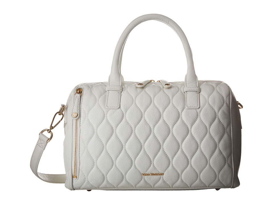 Vera Bradley - Quilted Marlo Satchel (White) Satchel Handbags