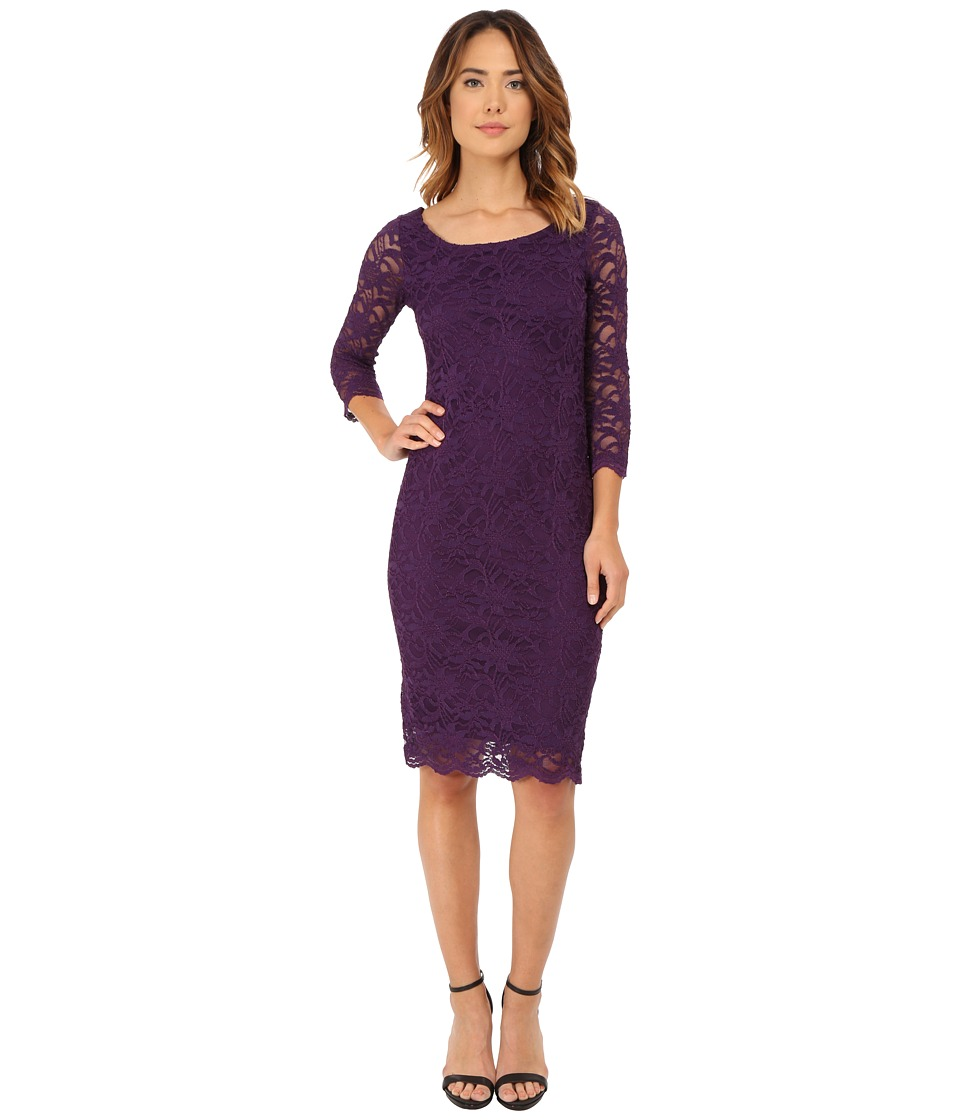 rsvp - Bethenny Dress (Eggplant) Women's Dress