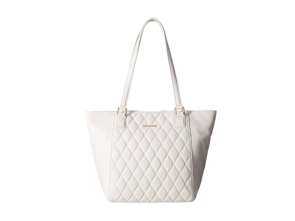 Vera Bradley - Quilted Small Ella Tote (White) Tote Handbags