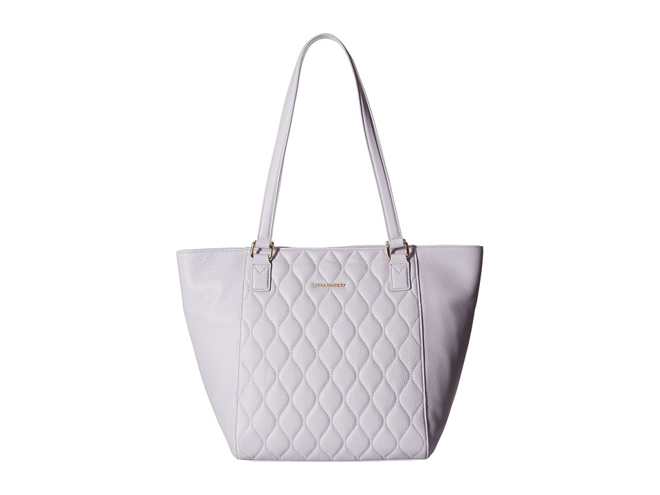 Vera Bradley - Quilted Small Ella Tote (Cloud Gray) Tote Handbags