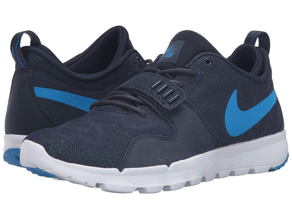 Nike SB - Trainerendor (Obsidian/Photo Blue/White/Rio Teal) Men's Skate Shoes