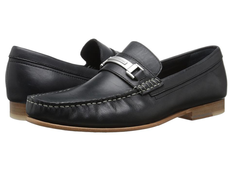 Calvin Klein Bruce (Black Washed Leather) Men