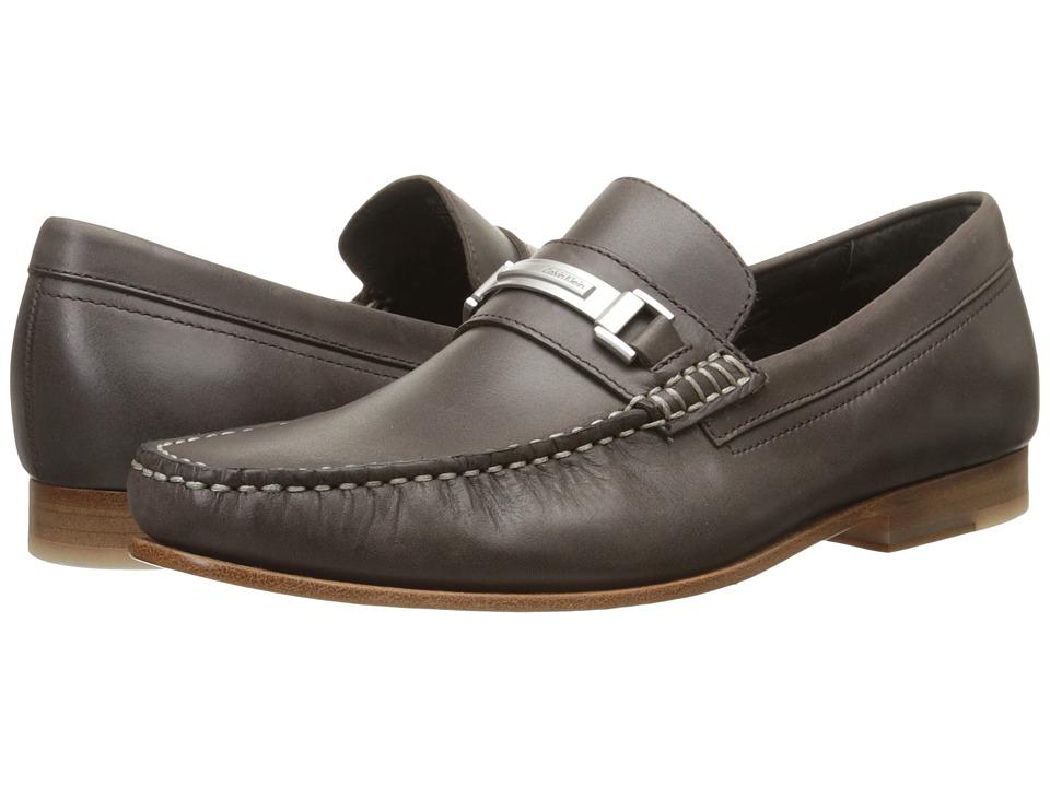 Calvin Klein - Bruce (Dark Brown Washed Leather) Men's Shoes