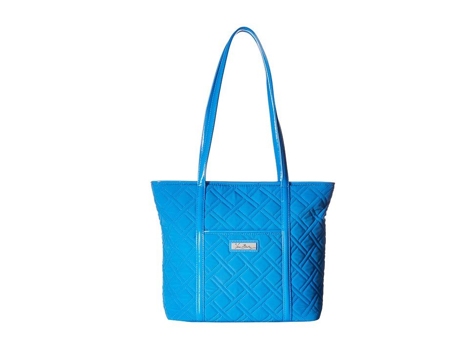 Vera Bradley - Small Trimmed Vera (Coastal Blue/Blue) Tote Handbags