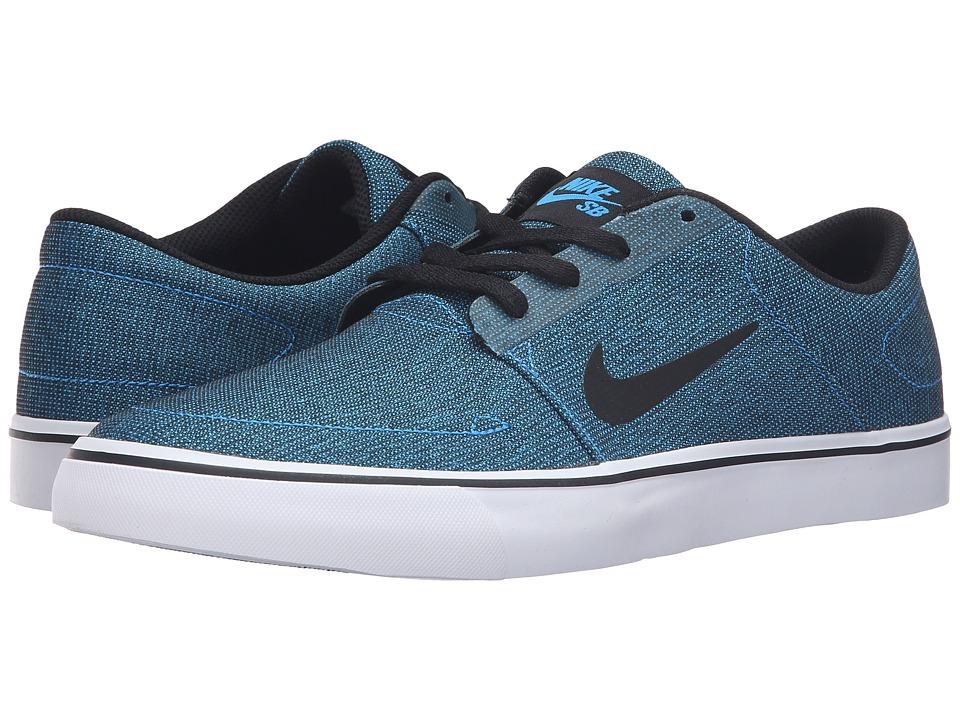 Nike SB - Portmore Canvas (Photo Blue/Black/White) Men's Skate Shoes