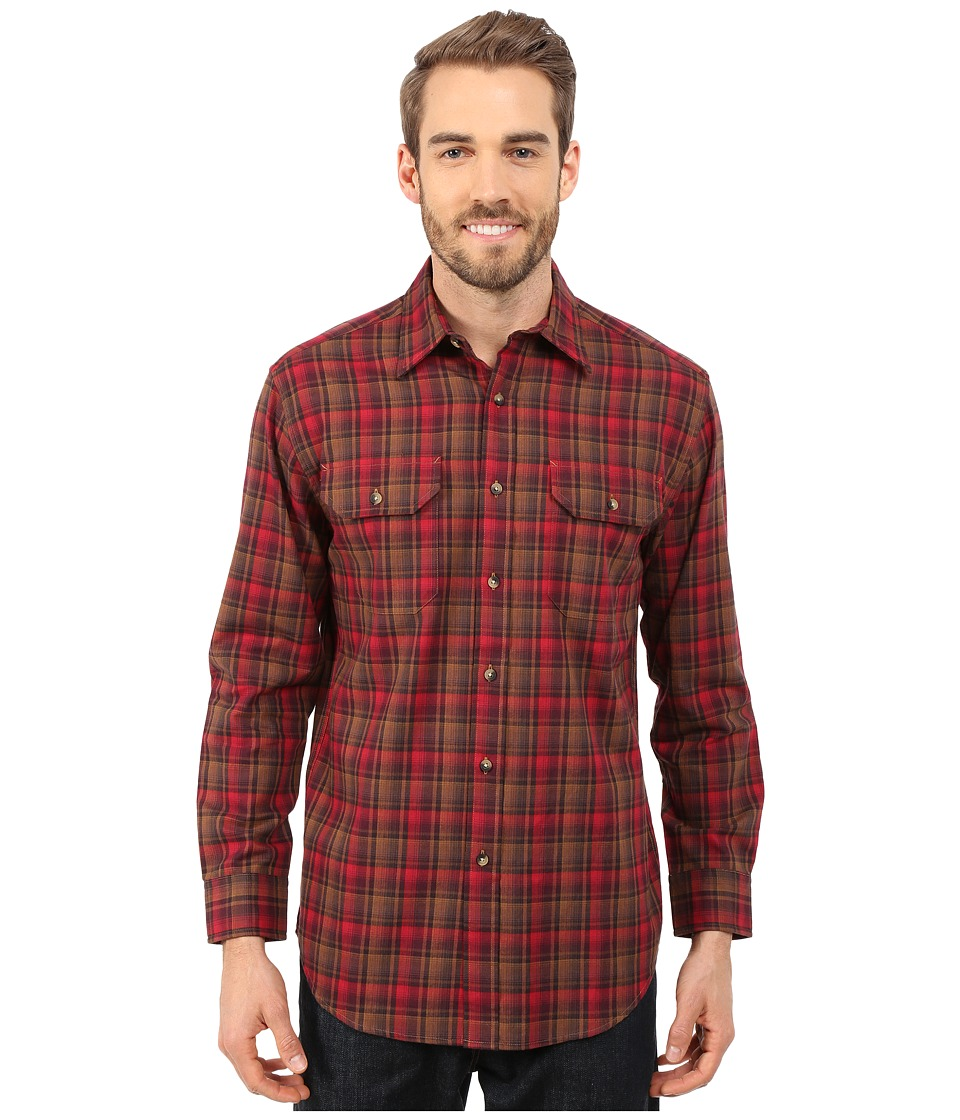 Pendleton - Pioneer Shirt (Burgundy/Olive) Men's Long Sleeve Button Up