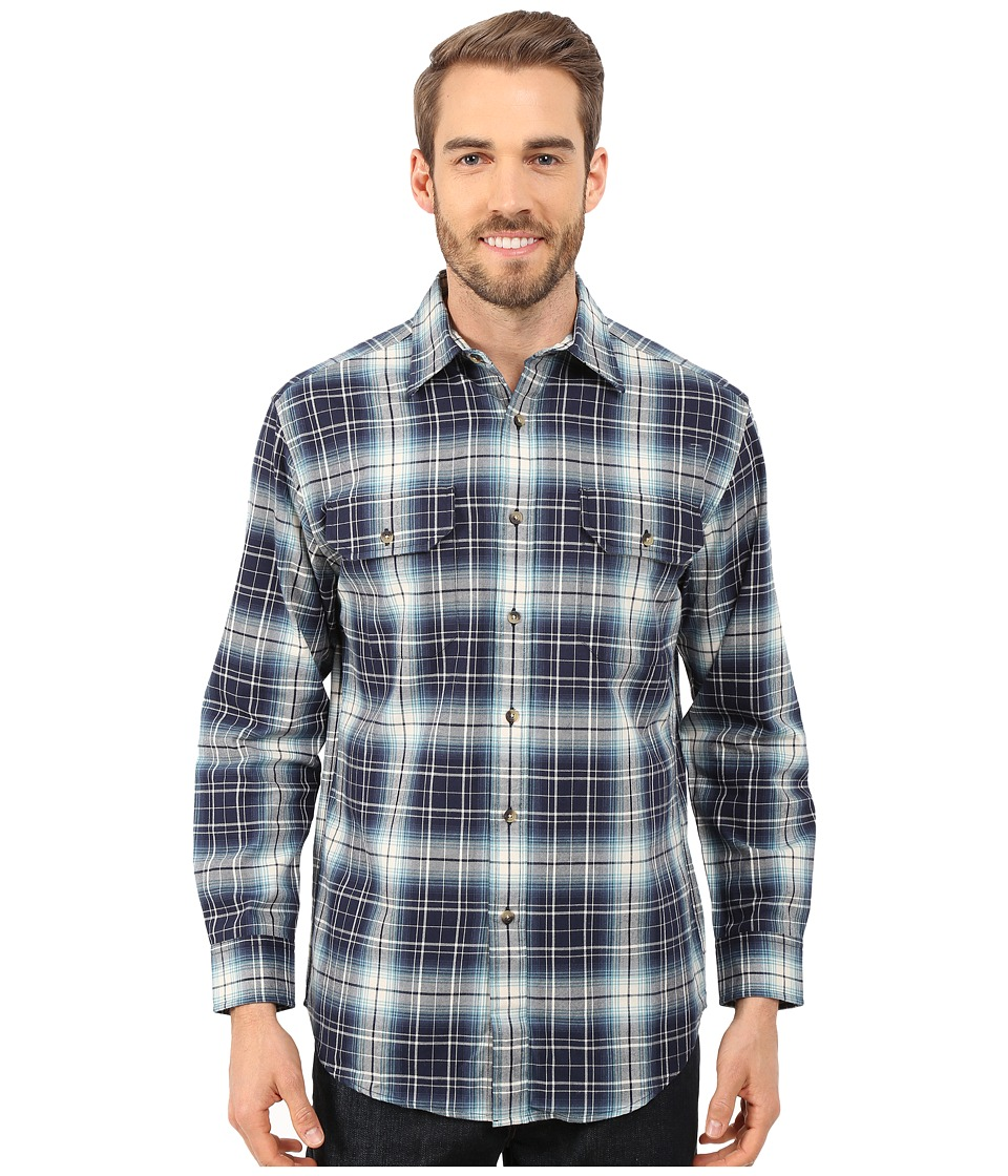 Pendleton - Pioneer Shirt (Navy/Tan) Men's Long Sleeve Button Up