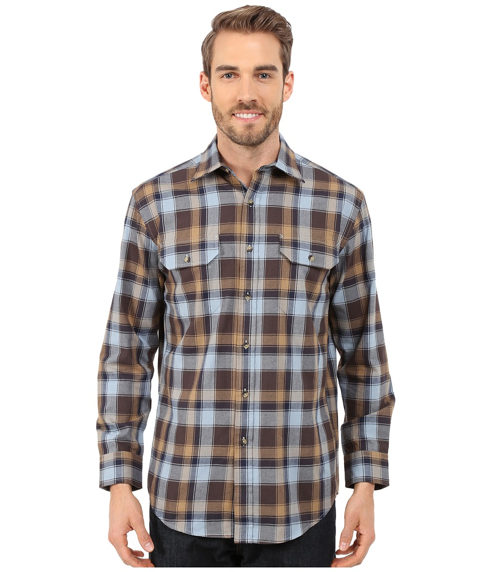 Pendleton - Pioneer Shirt (Brown/Blue/Gold) Men's Long Sleeve Button Up