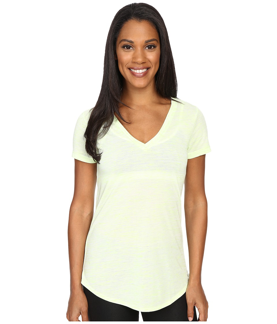 ALO - Deep V-Neck Shirt (Glowstick Marble) Women's Short Sleeve Pullover