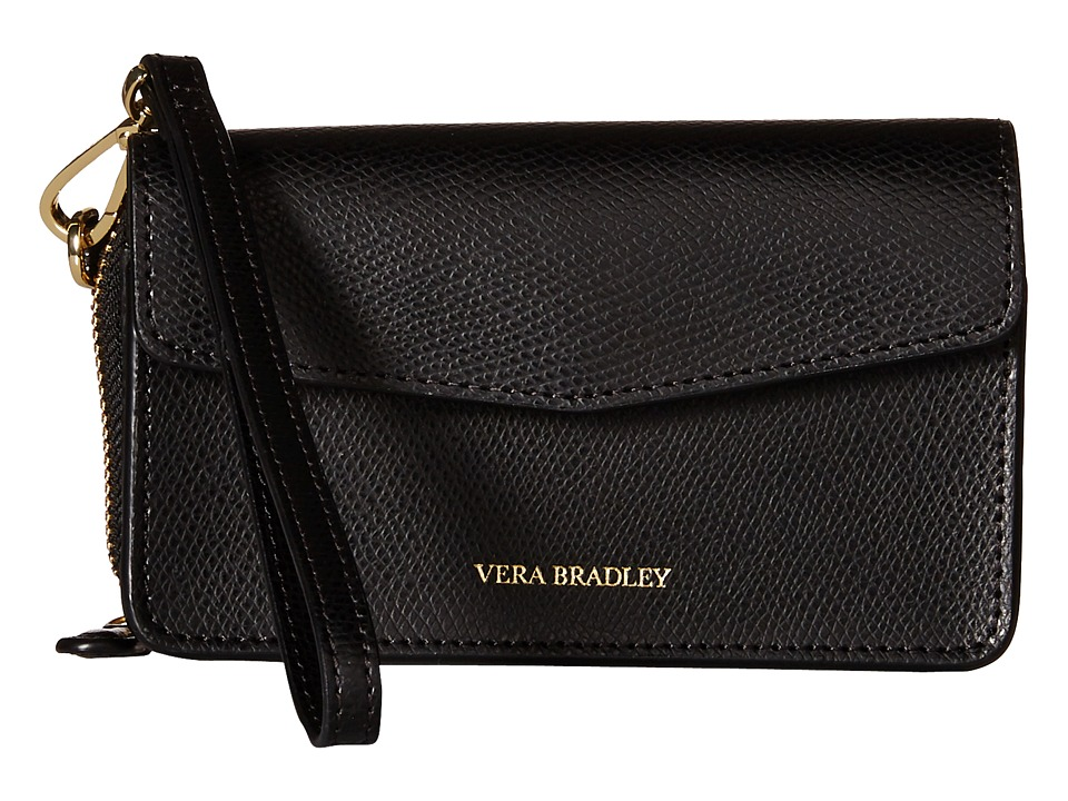Vera Bradley - Smartphone Wristlet for iPhone 6 (Black) Wristlet Handbags