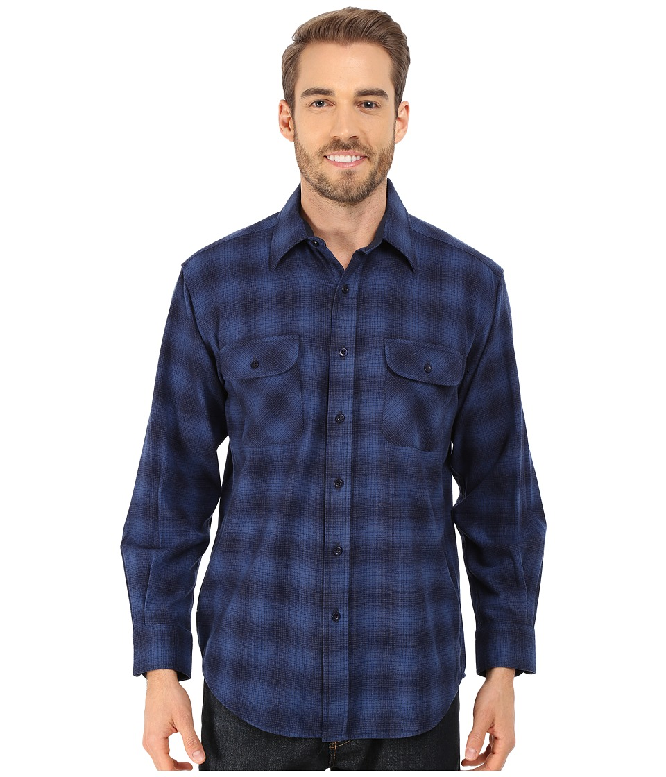Pendleton - L/S Field Shirt (Blue Shadow) Men's Long Sleeve Button Up