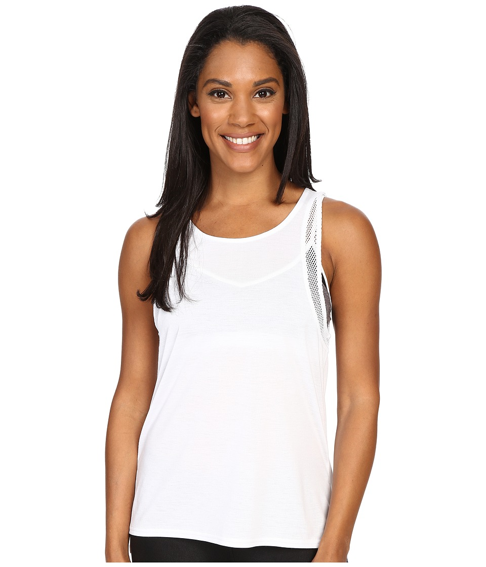 ALO - Sunshade Tank Top (White/White) Women's Sleeveless