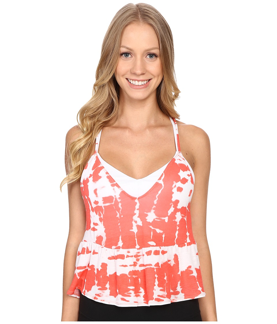 ALO - Flutter Tank Top (Guava Tie-Dye) Women's Sleeveless