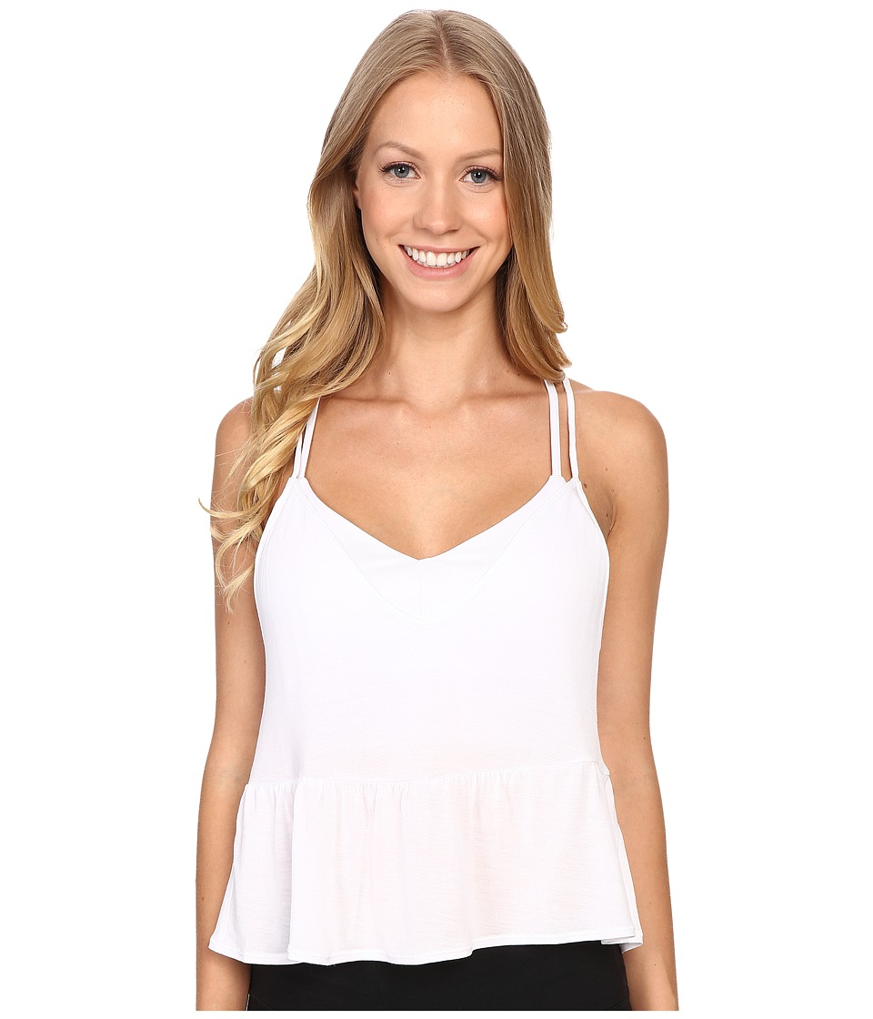 ALO - Flutter Tank Top (White) Women's Sleeveless