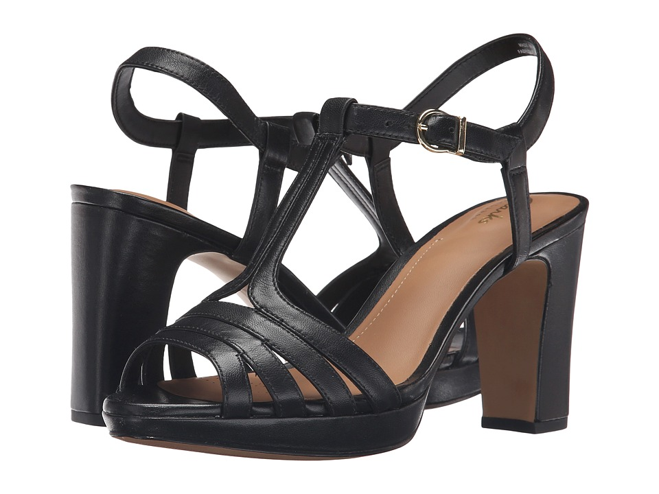Clarks - Jenness Night (Black Leather) High Heels
