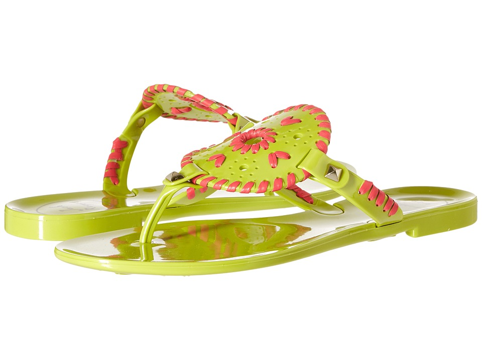 Jack Rogers - Georgica Jelly (Lime/Bright Pink) Women's Sandals