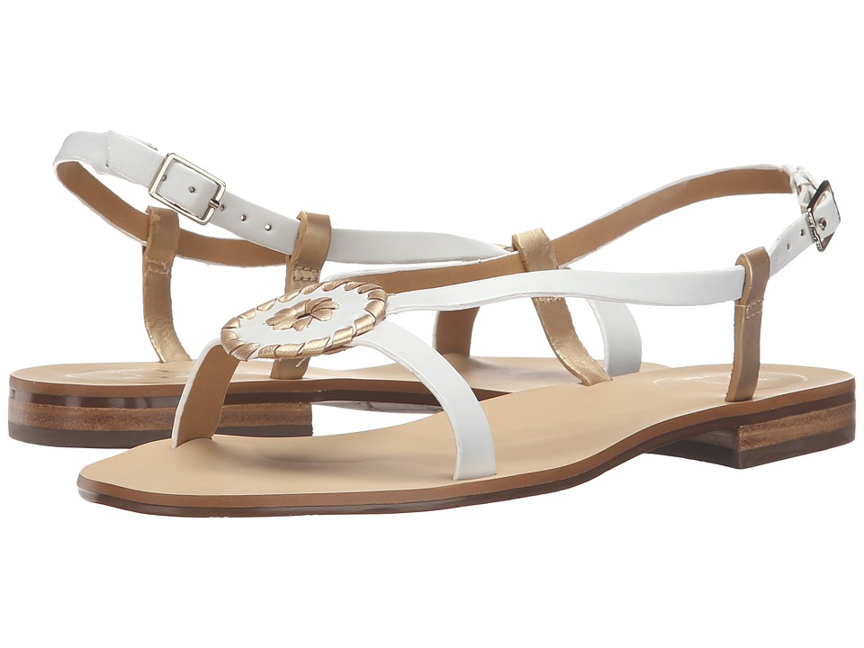 Jack Rogers Mollie (White/Gold) Women