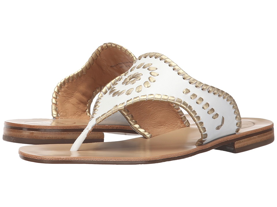 Jack Rogers Blair (White/Gold) Women