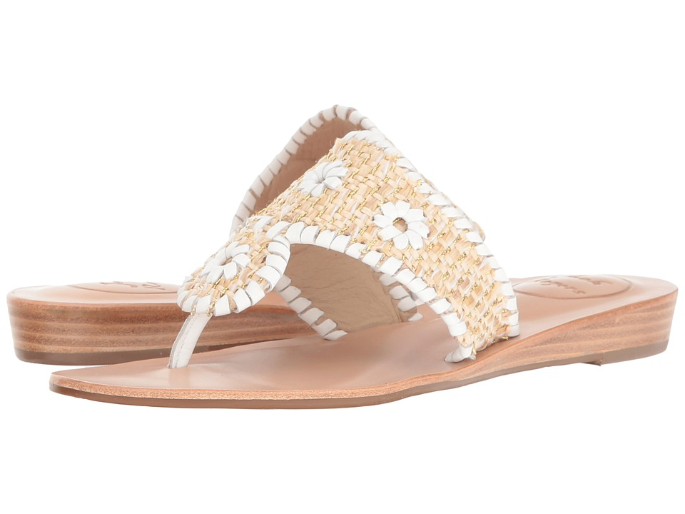Jack Rogers - Capri Raffia (Multi/Gold) Women's Wedge Shoes