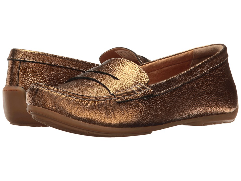 Clarks - Doraville Nest (Gold Metallic Leather) Women's Slip on Shoes