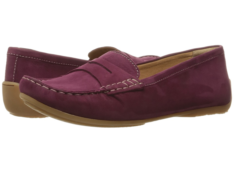Clarks - Doraville Nest (Plum Nubuck) Women's Slip on Shoes