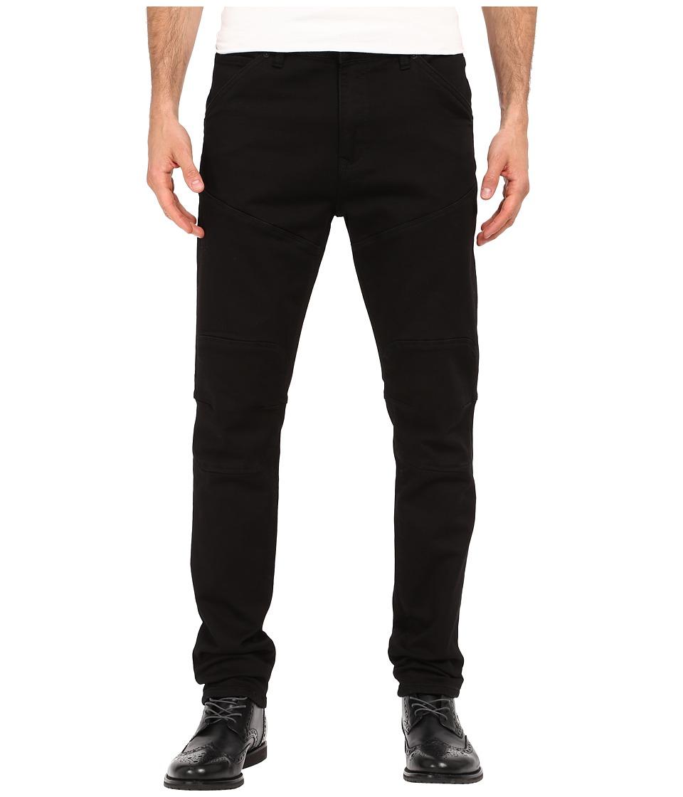 Kenneth Cole Sportswear - Slim Moto Knit Five-Pocket in Black (Black) Men's Jeans