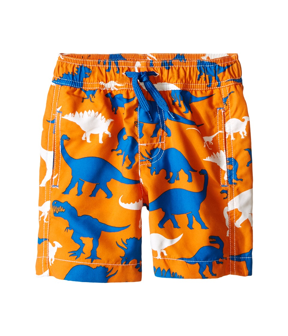 Hatley Kids - Silhouette Dinos Swim Trunks (Toddler/Little Kids/Big Kids) (Orange) Boy's Swimwear