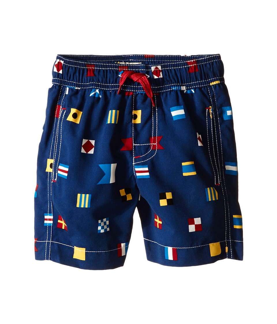 Hatley Kids - Nautical Flags Swim Trunks (Toddler/Little Kids/Big Kids) (Blue) Boy's Swimwear