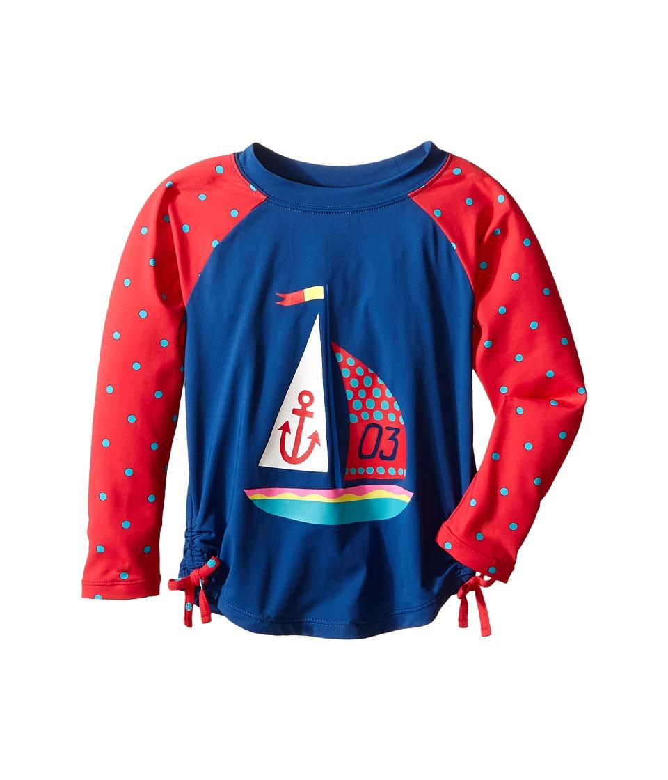 Hatley Kids - Sailboat Rashguard (Toddler/Little Kids/Big Kids) (Blue) Girl's Swimwear