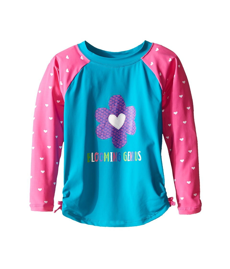 Hatley Kids - Little Hearts Rashguard (Toddler/Little Kids/Big Kids) (Blue) Girl's Swimwear