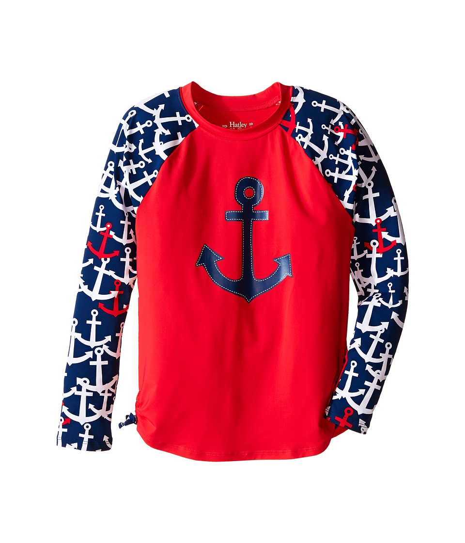 Hatley Kids Anchors Rashguard (Toddler/Little Kids/Big Kids) (Red) Girl