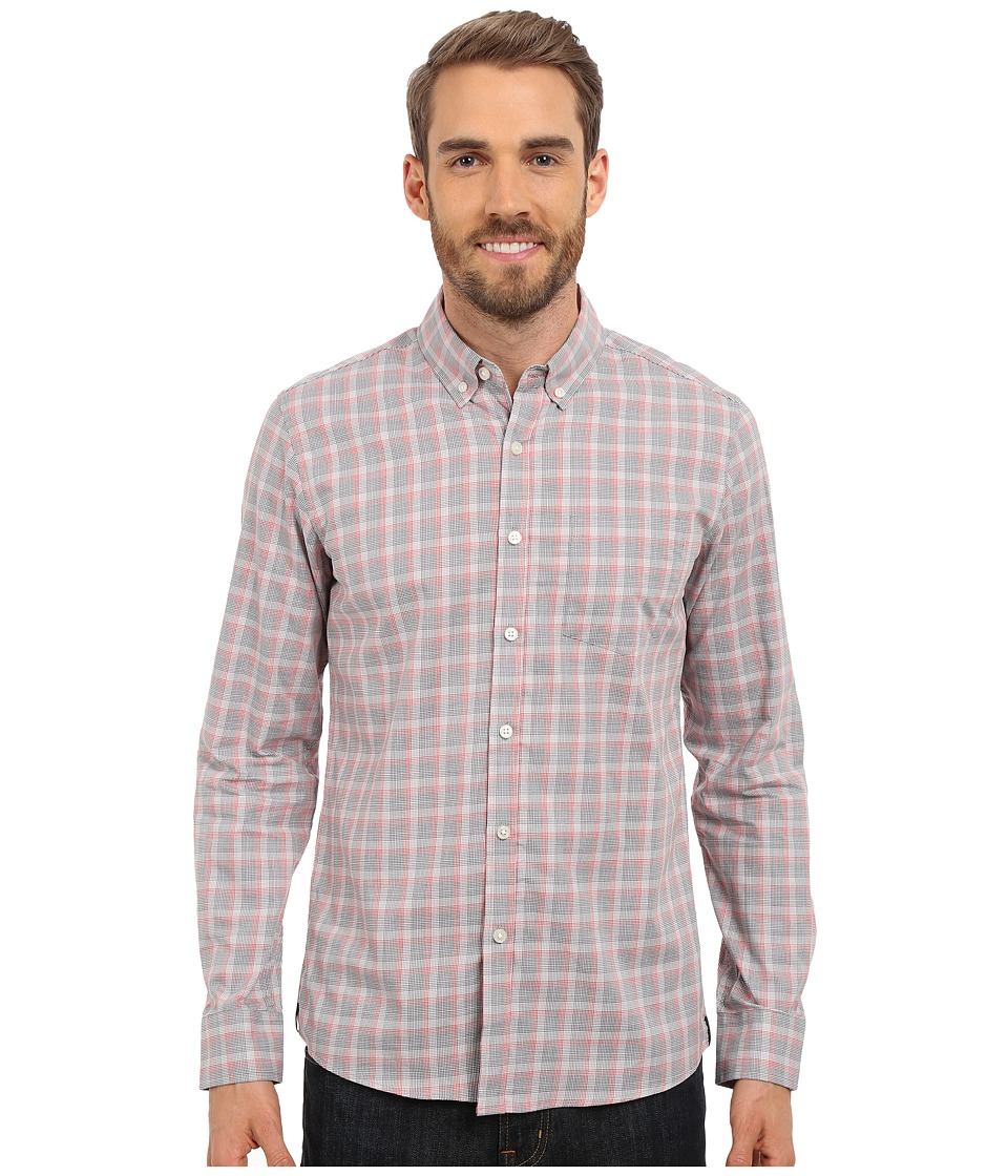 Kenneth Cole Sportswear - Long Sleeve Slim Button Down Promo (Blaze Combo) Men's Long Sleeve Button Up