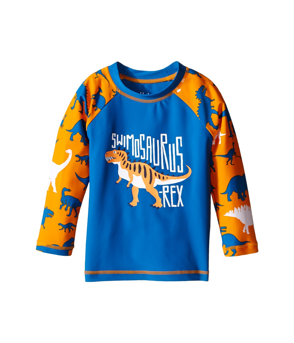 Hatley Kids - Silhouette Dinos Rashguard (Toddler/Little Kids/Big Kids) (Blue) Boy's Swimwear