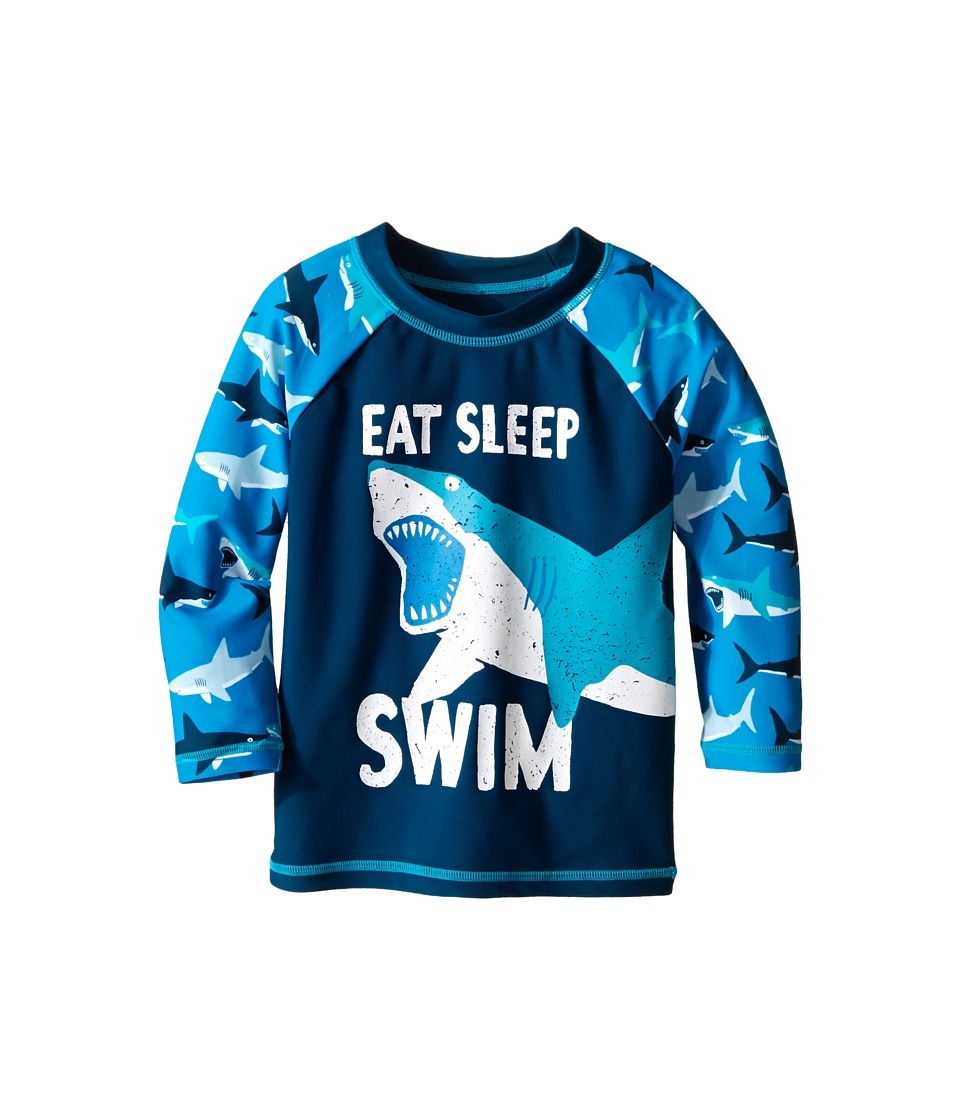 Hatley Kids - Great White Sharks Rashguard (Toddler/Little Kids/Big Kids) (Blue) Boy's Swimwear