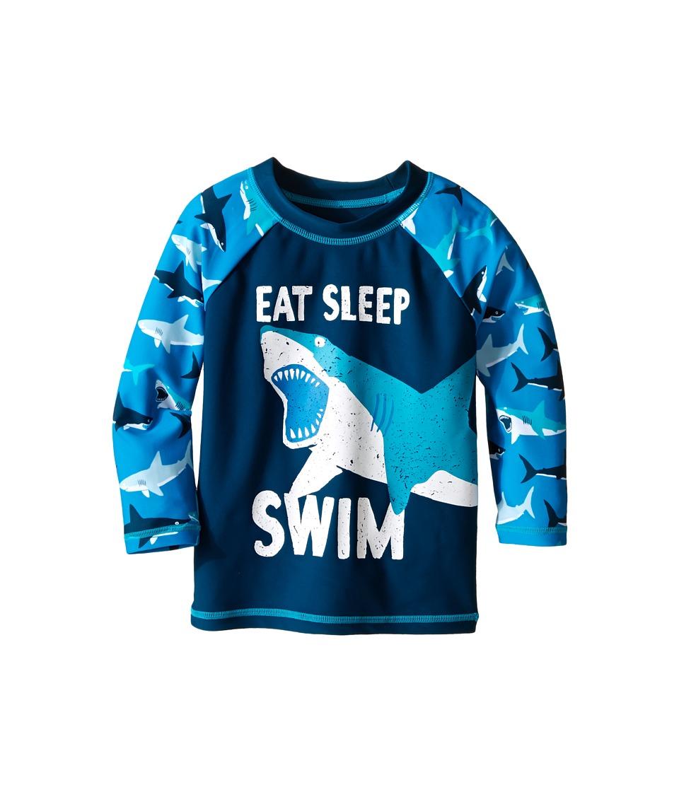 Hatley Kids - Great White Sharks Rashguard (Toddler/Little Kids/Big Kids) (Blue) Boy's Swimwear