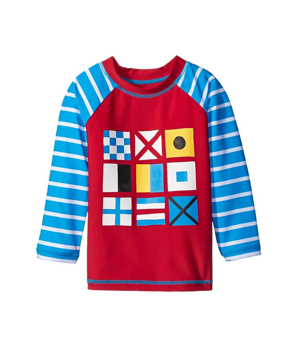 Hatley Kids - Nautical Flags Rashguard (Toddler/Little Kids/Big Kids) (Red) Boy's Swimwear