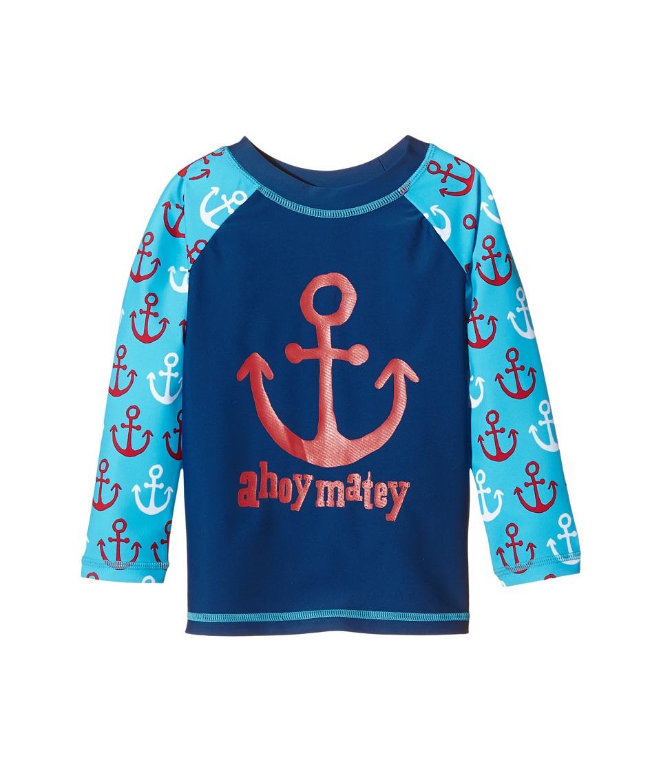 Hatley Kids - Nautical Anchors Rashguard (Toddler/Little Kids/Big Kids) (Blue) Boy's Swimwear