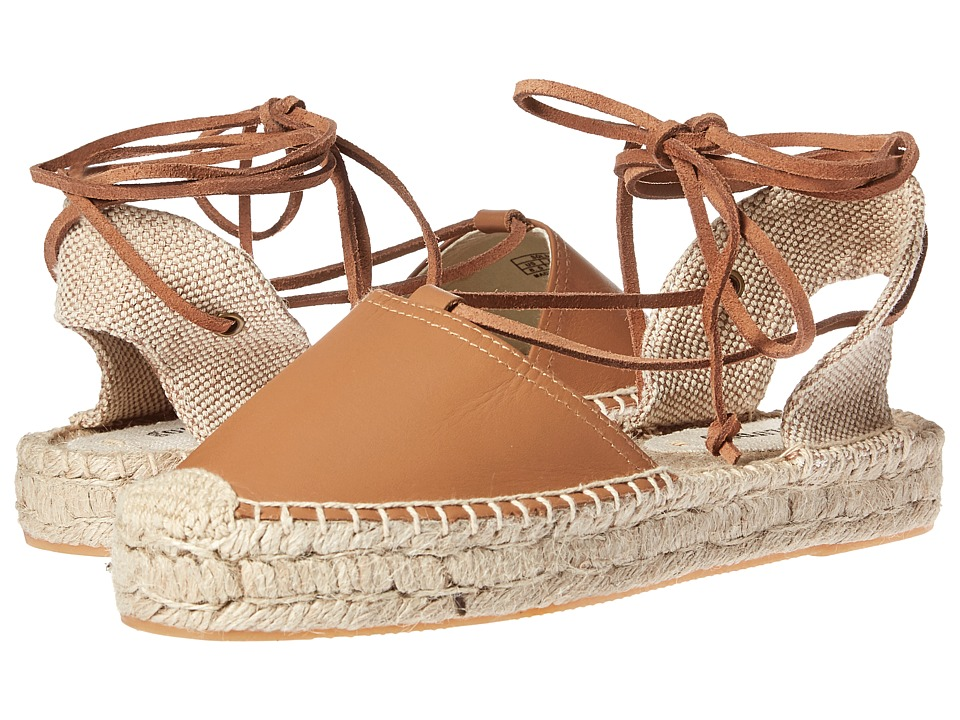 Soludos - Platform Gladiator Sandal Leather (Tan) Women's Sandals