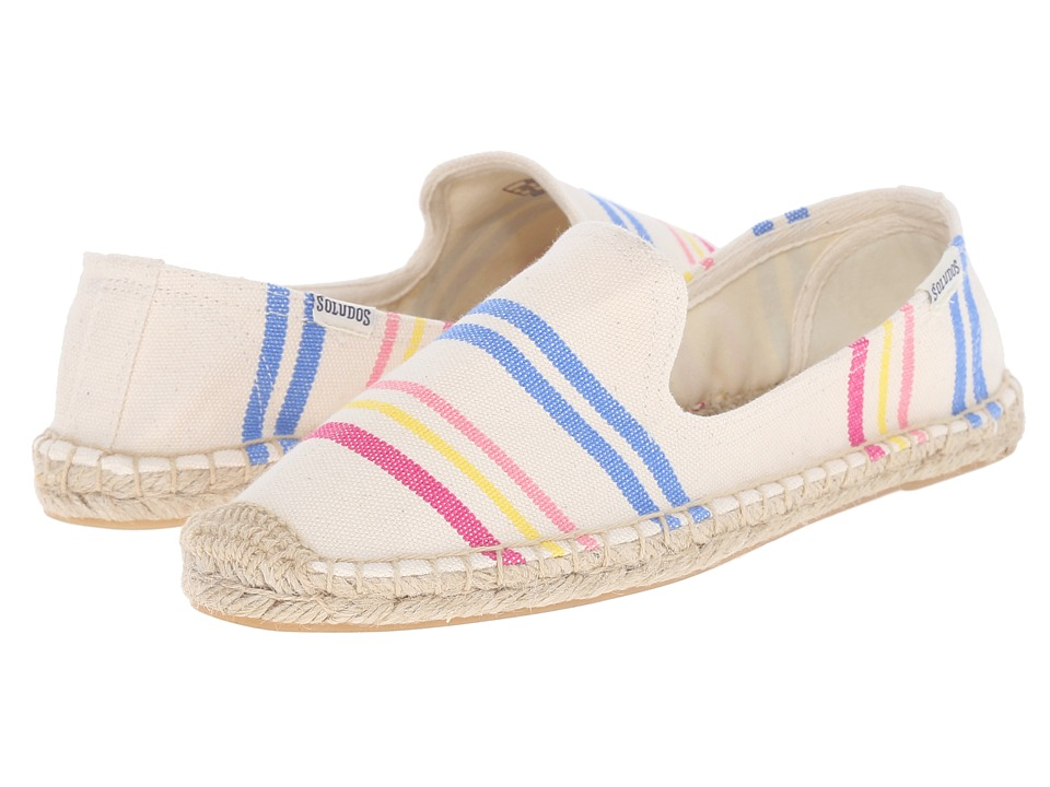 Soludos - Smoking Slipper (Candy Stripe/Natural Multi) Women's Slippers