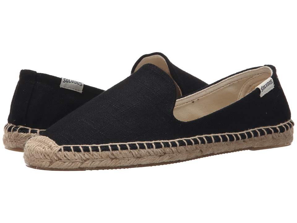 Soludos - Smoking Slipper (Linen Black) Women's Slippers
