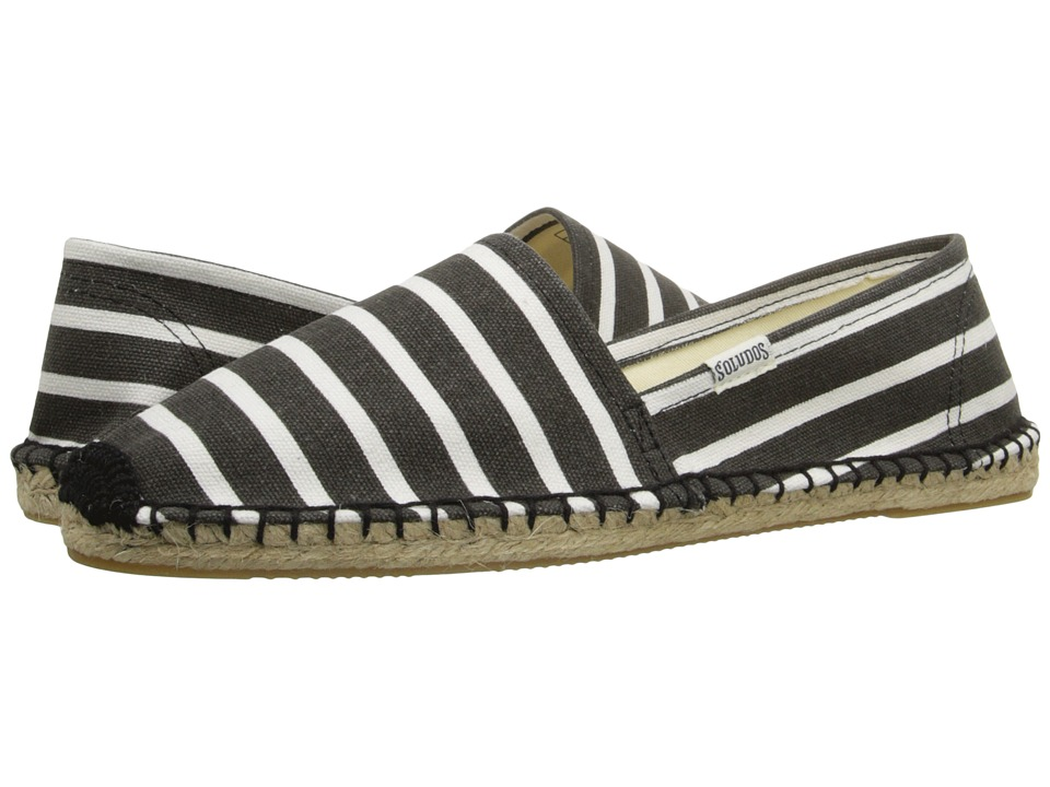 Soludos Original Classic Stripes (Black/White) Women