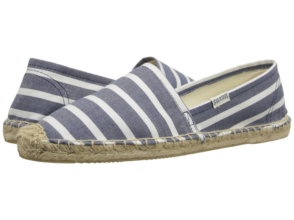 Soludos - Original Classic Stripes (Light Navy/White) Women's Shoes
