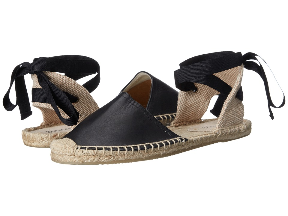 Soludos - Classic Sandal Leather (Black) Women's Sandals