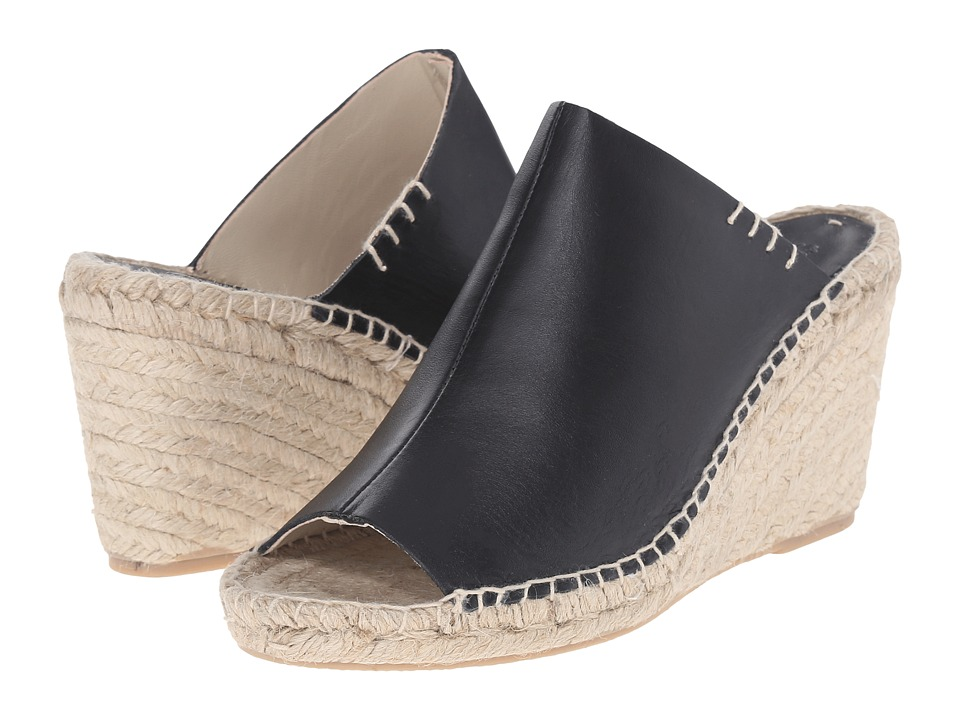 Soludos - Mule Wedge (Black) Women's Wedge Shoes