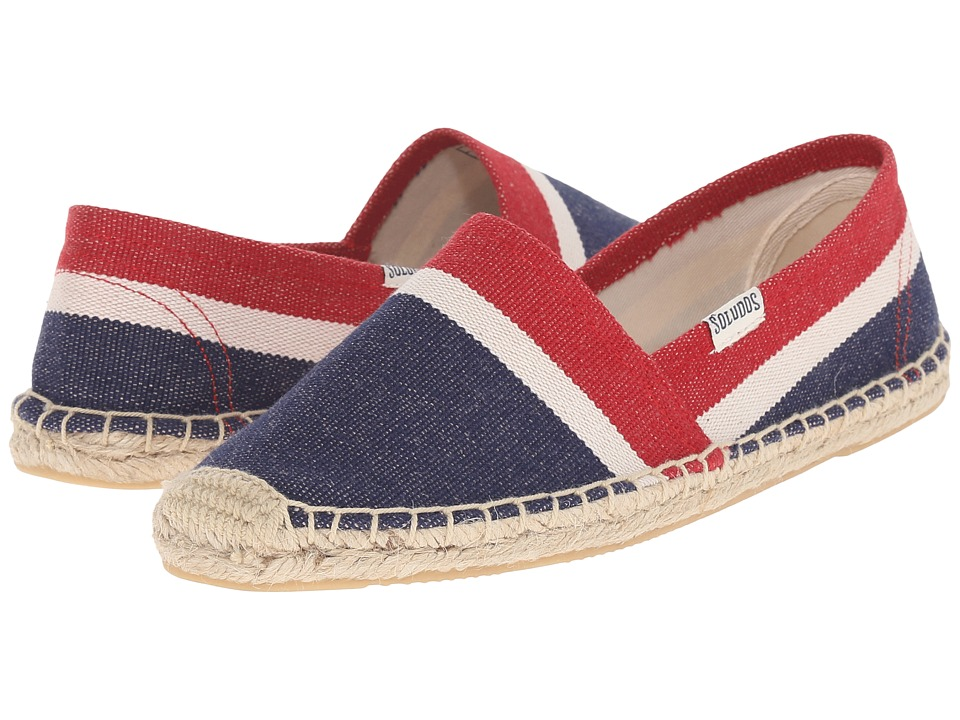 Soludos - Original Heavy Woven Linen (Mallorcan Stripe/Navy/Natural Red) Women's Shoes