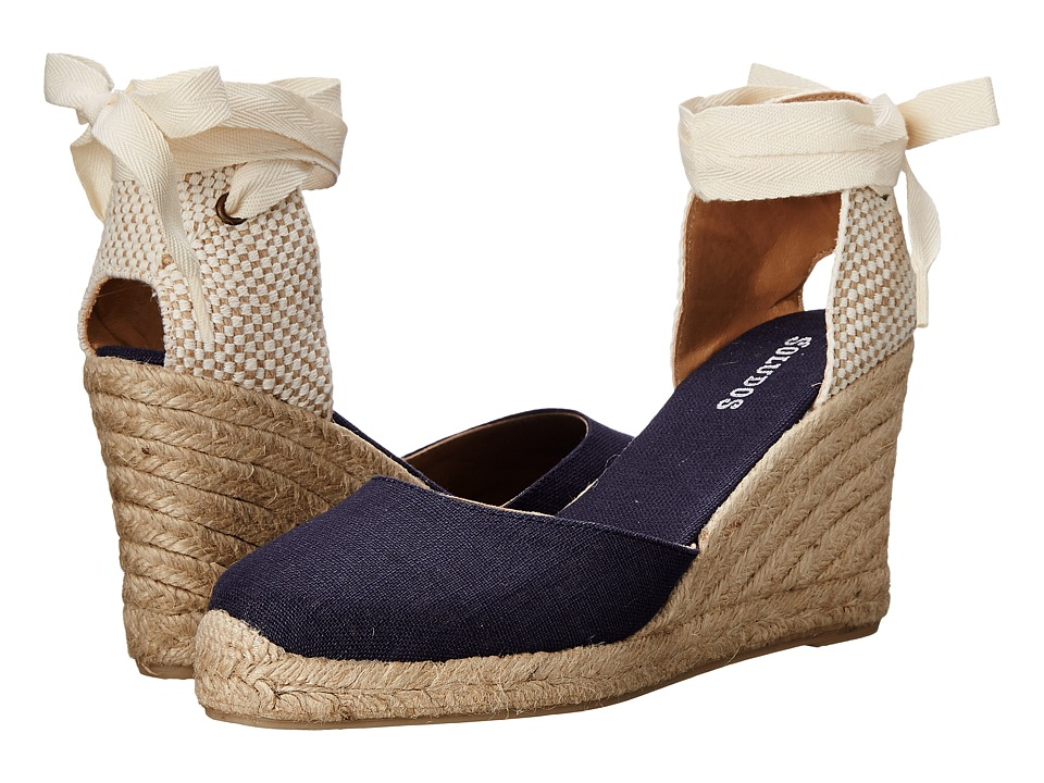 4dba3d41d2c6 UPC 849071009716 product image for Soludos - Tall Wedge Linen (Navy) Women s  Wedge Shoes ...