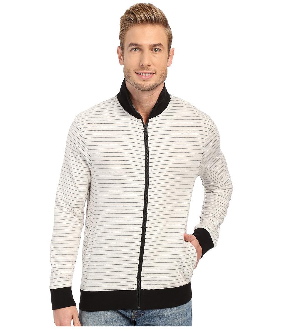 Kenneth Cole Sportswear - Striped Knit Jacket (White) Men's Clothing